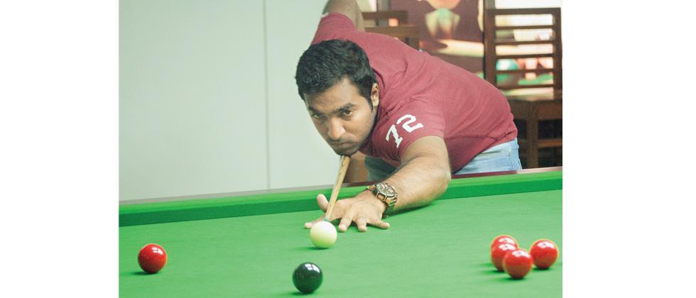 Sagar Pawar in action on Tuesday.
