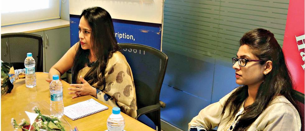 Expert talk: Dr Mamata Dighe (L), a city-based gynaecologist and Dr Aradhana Patkar, nutritionist, during an interaction at Sakal office in Shivajinagar on Tuesday.