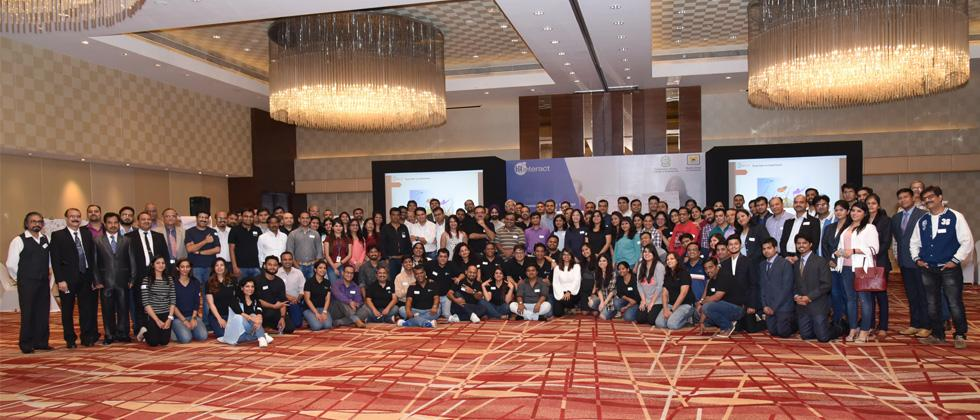 Participants pose for a group photograph