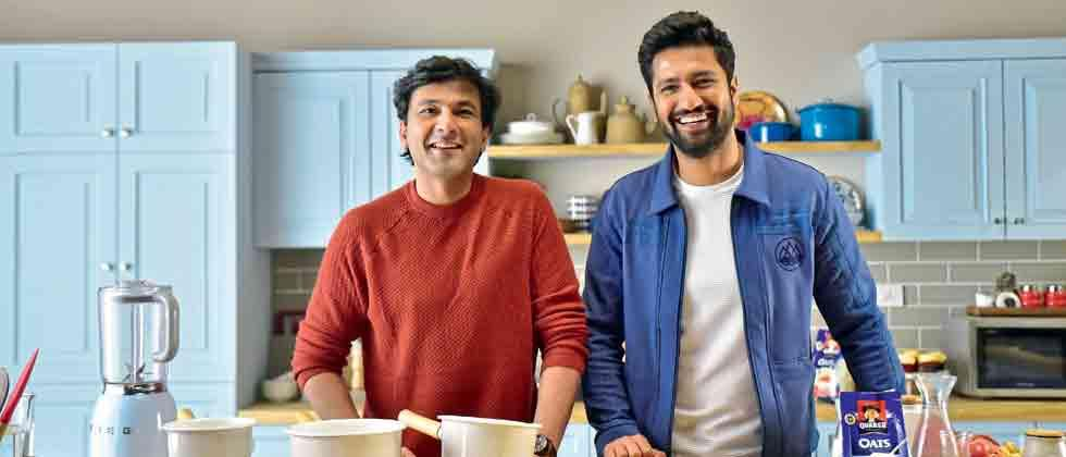 Jamming with Vikas Khanna over breakfast