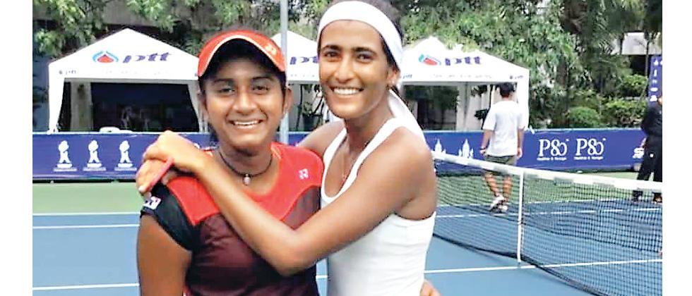 Pranjala Yadlapalli and Rutuja Bhosale (right).