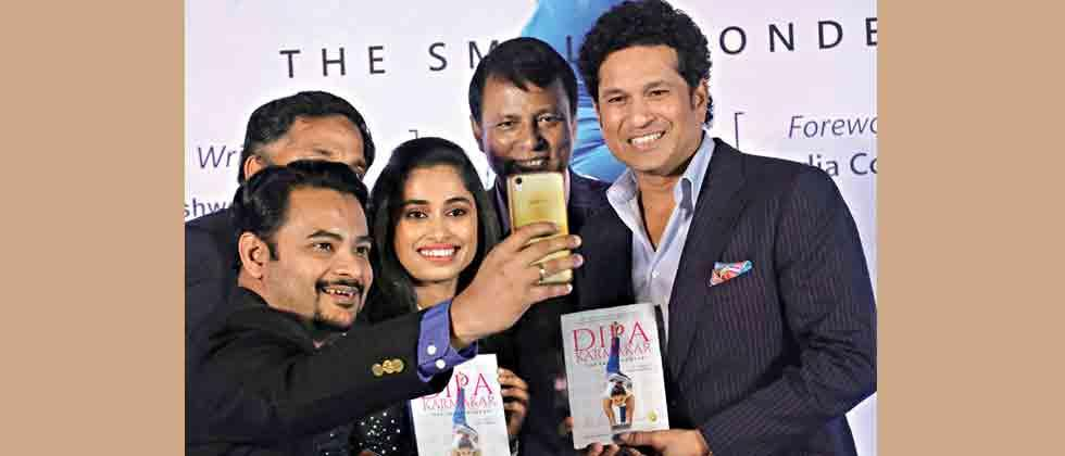 'Fan' Sachin launches Dipa's biography 'The Small Wonder'