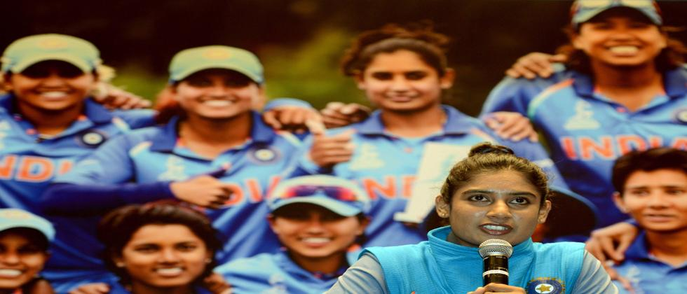 India's women's cricket team captain Mithali Raj speaks during a news conference after the team's arrival in Mumbai on July 26, 2017. India lost in the ICC Women's World Cup cricket final against England at Lord's cricket ground in London on July 23.