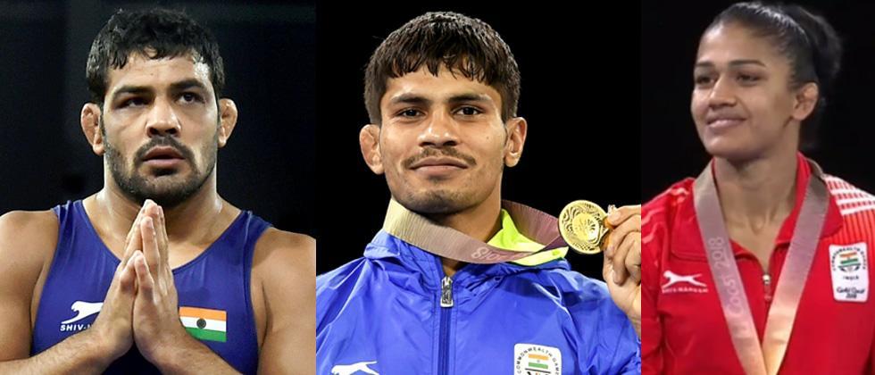 Sushil, Aware strike gold; Babita settles for silver