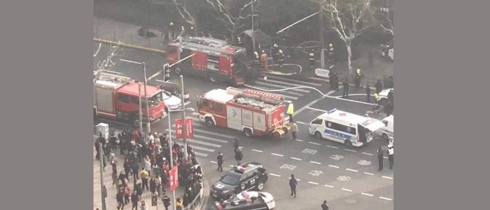 18 injured after minivan crashes into pedestrians in Shanghai