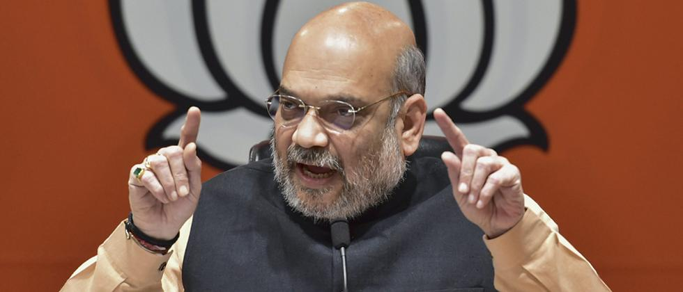 Shah accuses Cong of insulting soldiers' martyrdom, says only BJP can ensure country's security