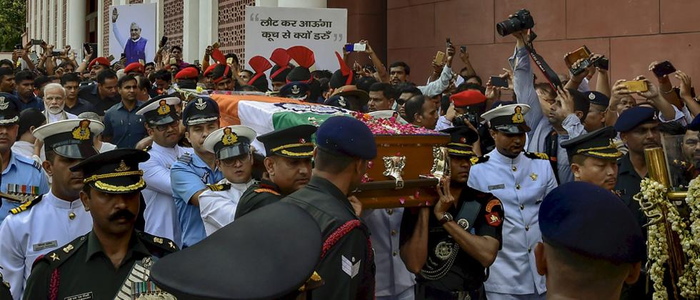 Atal Bihari Vajpayee cremated with full military honours