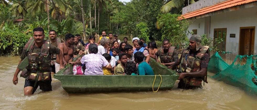 Armed Forces rescue over 29,000 people in Kerala