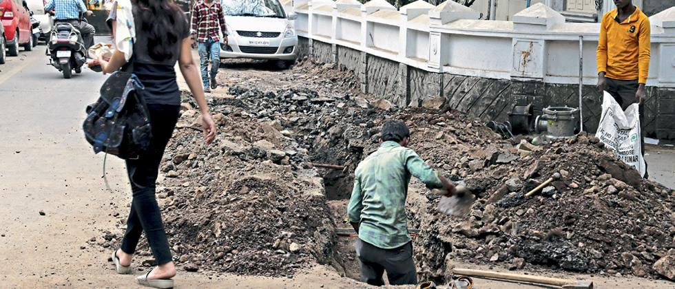PMC unofficially begins work on 24x7 water supply project in city