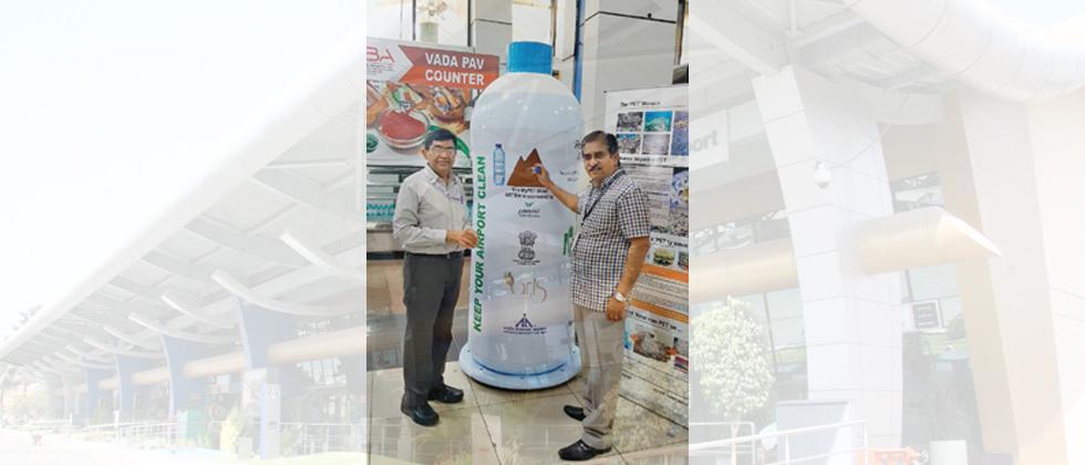 Plastic bottle kiosk installed at Pune airport