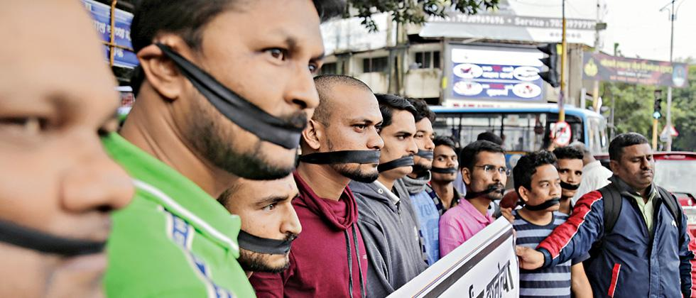 Silent protest held against arrest of tribal students