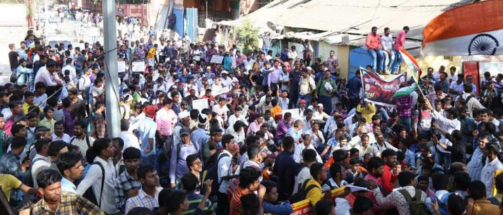Specially-abled persons lathicharged by police