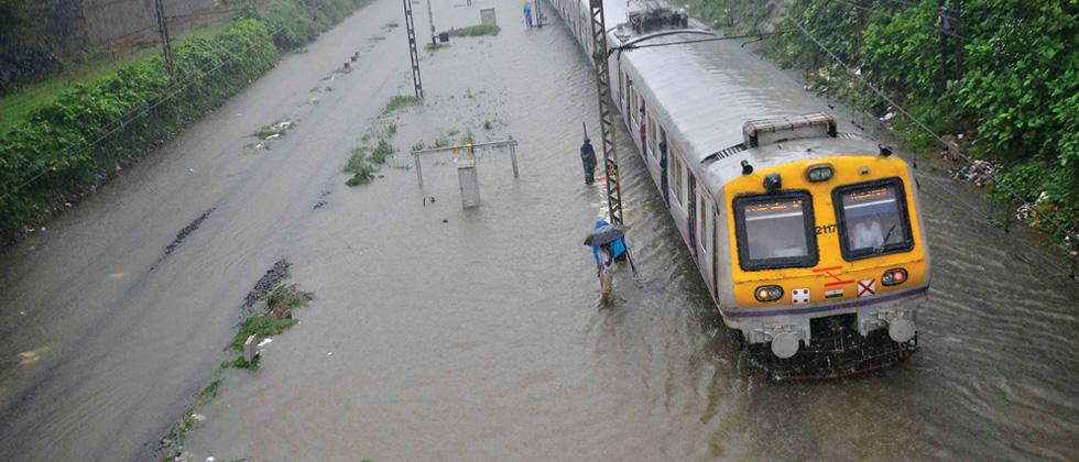 Train services on Pune-Mumbai route disrupted due to rains