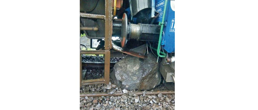 Trains affected due to landslide near Khandala