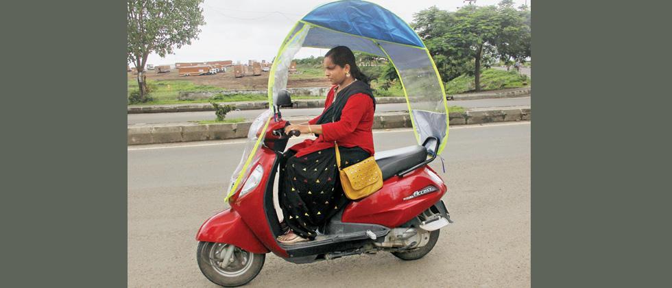 Now, enjoy biking in rain without getting wet