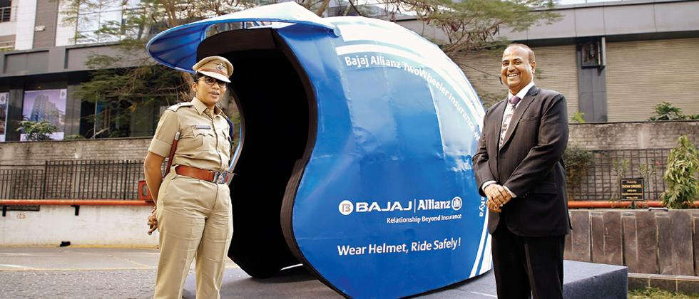 City traffic police launch safety campaign with Bajaj Allianz