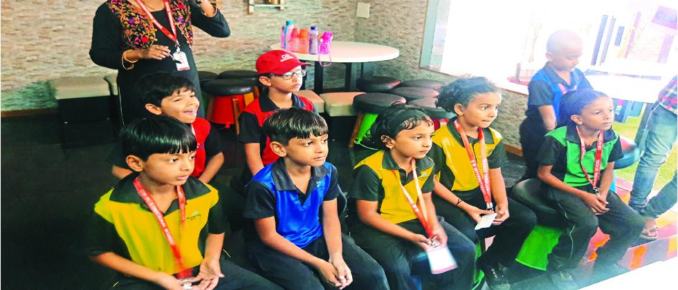 The students from CM International School, Baner Balewadi Road visited 'The Sitteria' a new pizza outlet.