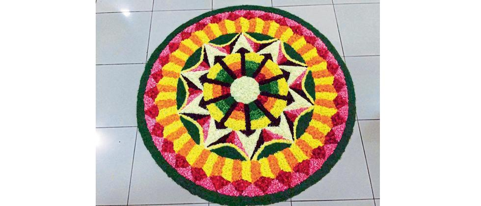 Pookalam made by Karthika Pillai