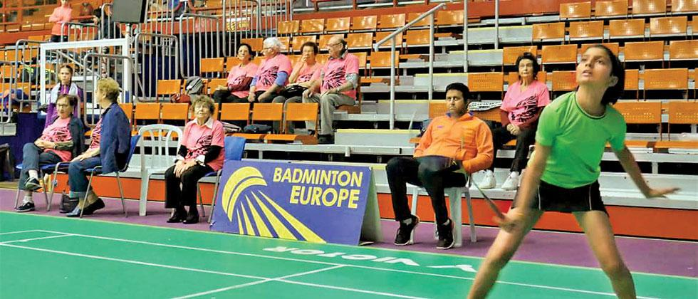 Sanjana Ambekar in action during the Israel Youth 2018 badminton championship at Rishon Le Zion in Israel