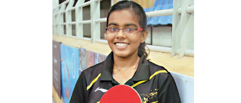 Disha walks home with U-18 TT title