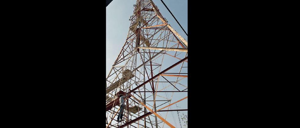 With joint efforts of bird lovers and officials of Katraj zoo and Bhor forest division, an eagle which was stuck to a 250 feet tall electric tower, was safely rescued in Bhuleshwar on Thursday