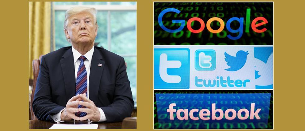 Trump warns Google, Facebook & Twitter over fake news