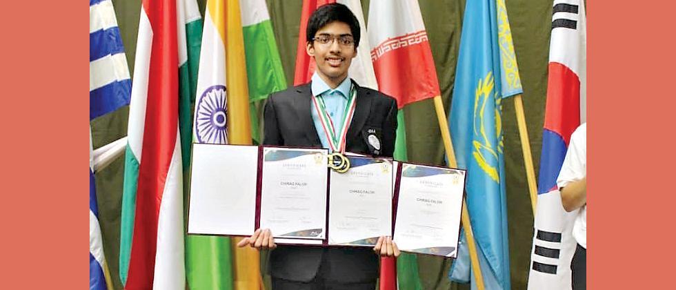 Boy from Pune strikes gold in International Olympiad