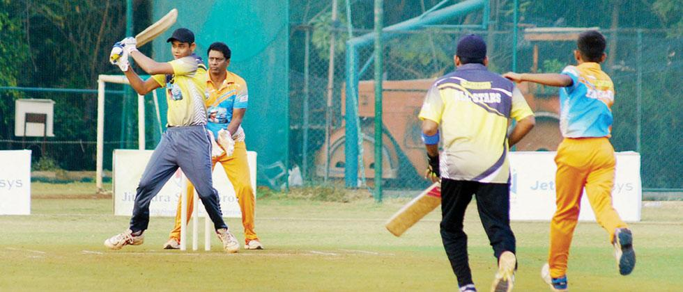 Shivam Jha of Lions (batting) in action at Poona Club ground