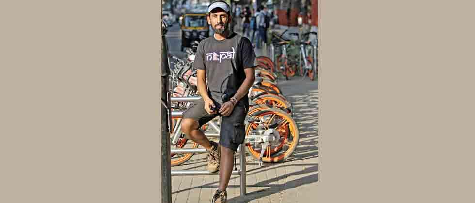 Pedalling to believe in humanity