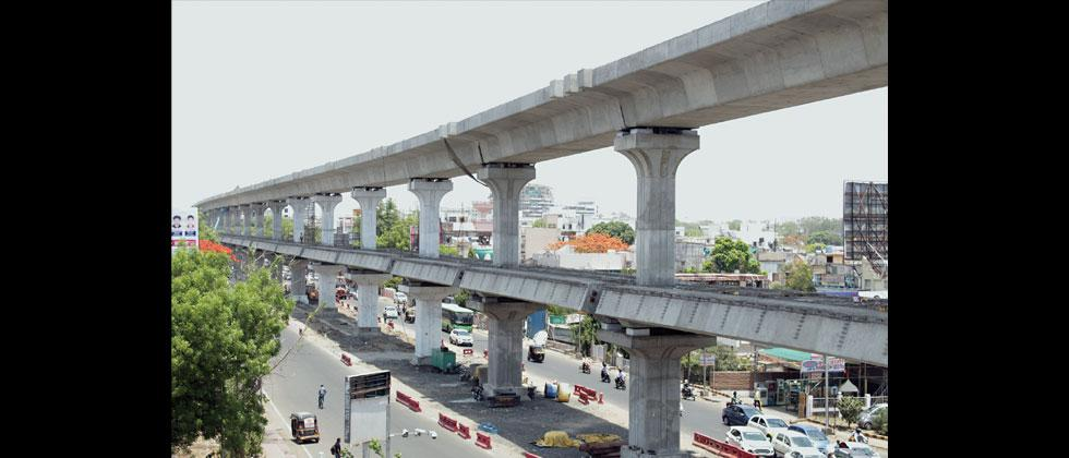 A file photo of a two-tier flyover in Nagpur. MahaMetro plans to build such a flyover at Nal Stop Chowk in Pune