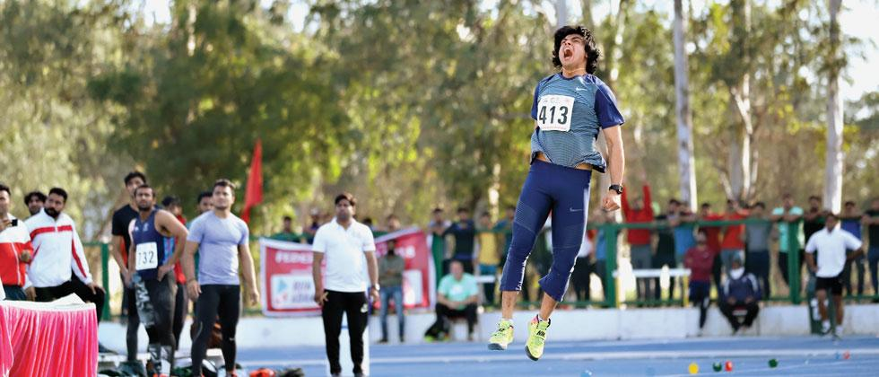Neeraj smashes meet record with second best throw of career