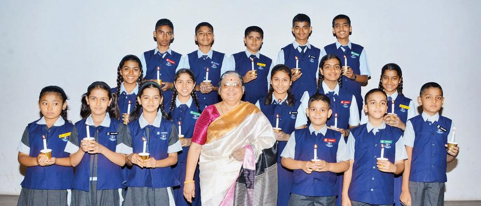 Students of Rosary SSC School and ICSE School were felicitated for perfoming well