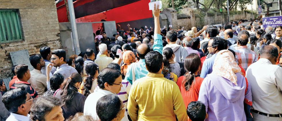 Pune music lovers line up outside Sawai venue