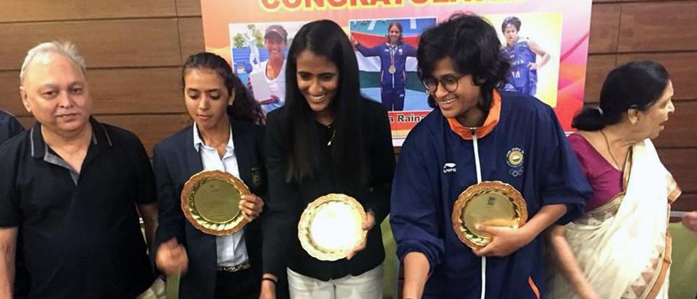 PYC Gymkhana felicitates Asian Games players