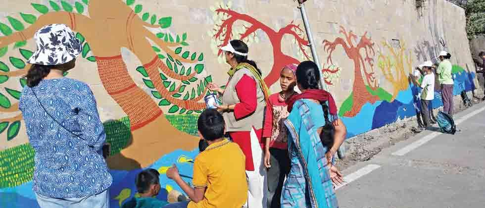 PMC takes credit for sanctuary's wall paintings