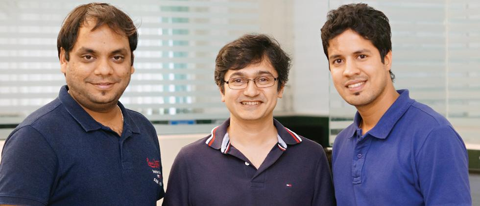(L to R) Founders of Neurotags Chief Sales Officer Yogesh Miharia, Chief Executive Officer Nitin Gupta and Chief Operating Officer Abhishek Agrawal.