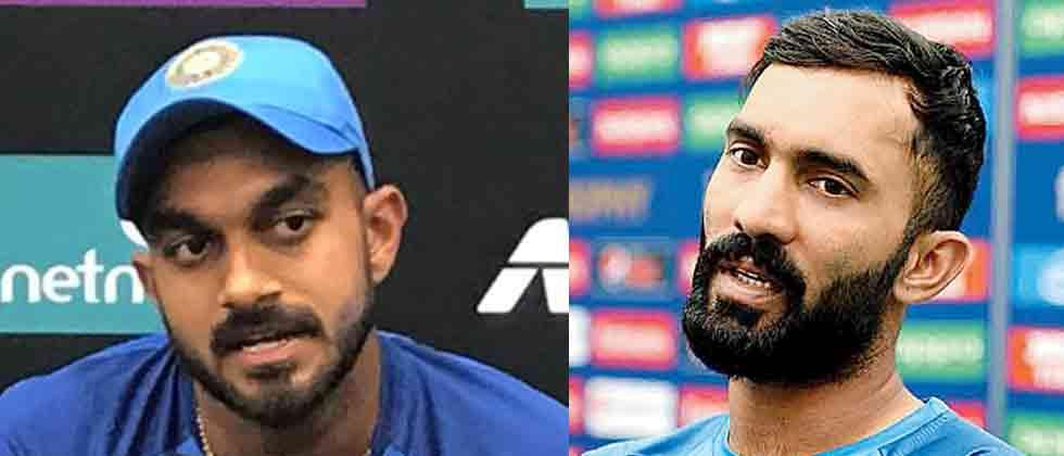 India's WC squad: Karthik pips Pant, Shankar in at No.4