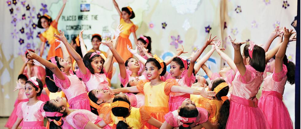 Students present a skit during the annual day celebrations of St Joseph High School, Pashan