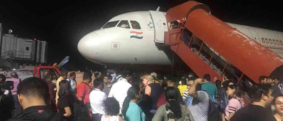 185 stuck as Air India airplane's engine fails