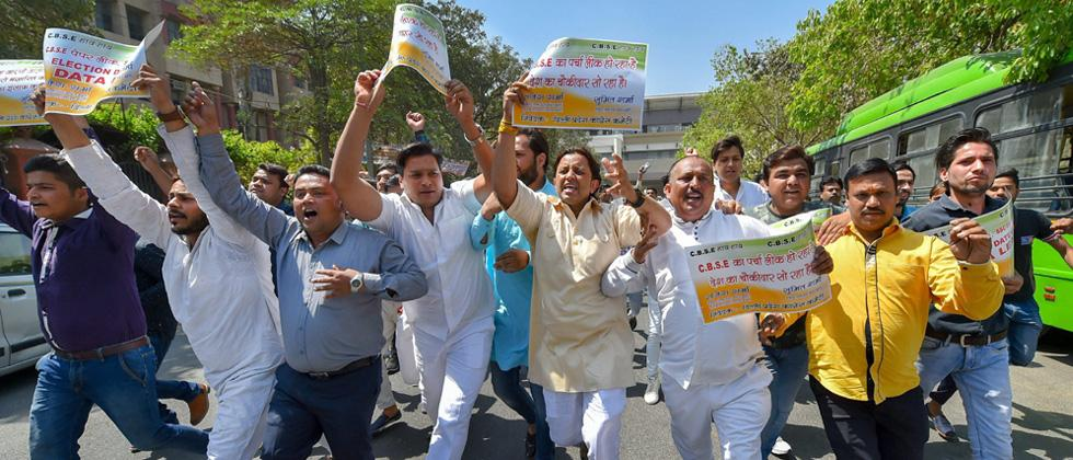 CBSE paper leak: Students, Cong hold protests across Delhi