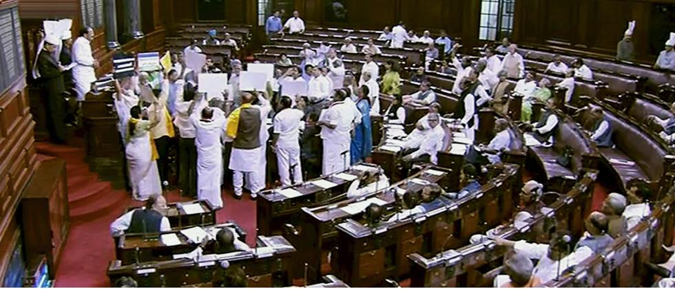 Rajya Sabha adjourned till 2 pm amid protests by oppn