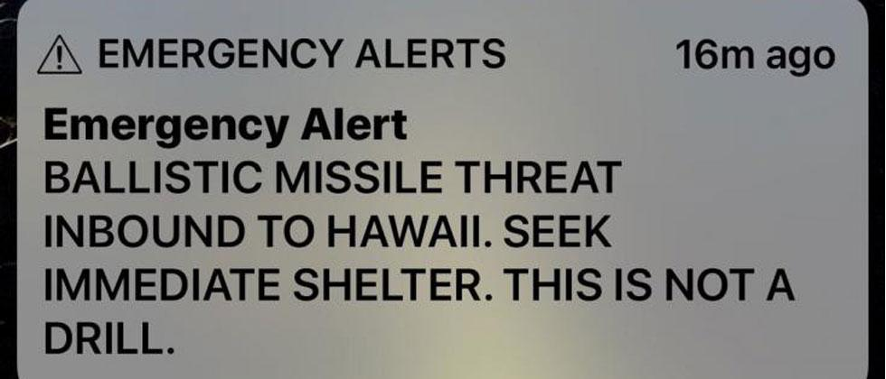 Hawaii missile alert: False alarm sparks panic in US state