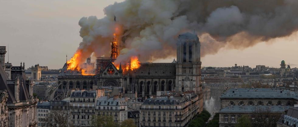 Macron vows to rebuild Notre-Dame after devastating fire