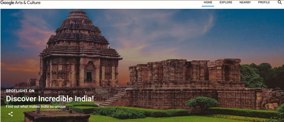 Google Arts and Culture, Tourism Ministry to explore Incredible India