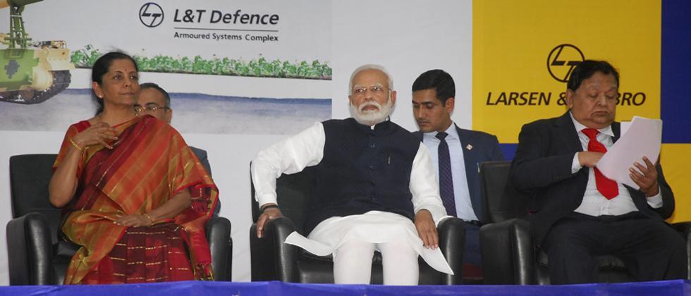 PM inaugurates L&T's K9 Vajra gun-making facility