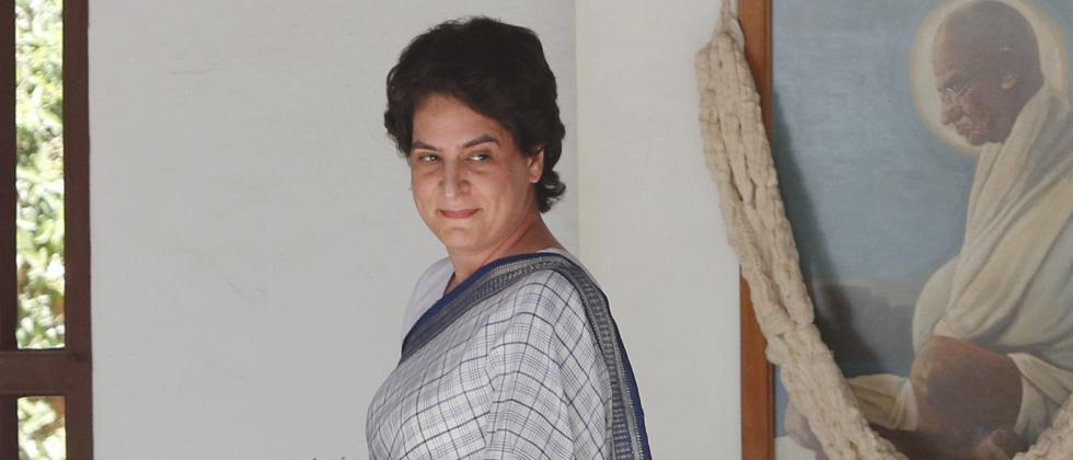 Priyanka targets Modi govt in maiden rally on PM's home turf