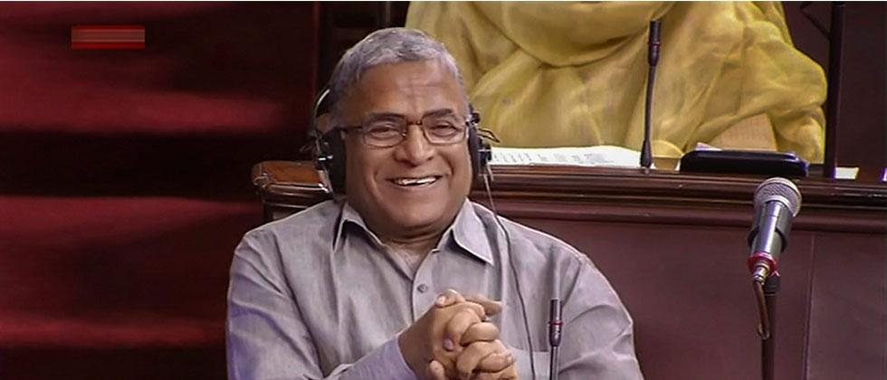 Newly-elected Deputy Chairman of Rajya Sabha Harivansh Narayan Singh in the house during the Monsoon session of Parliament, in New Delhi on Thursday, Aug 9, 2018. RSTV GRAB via PTI