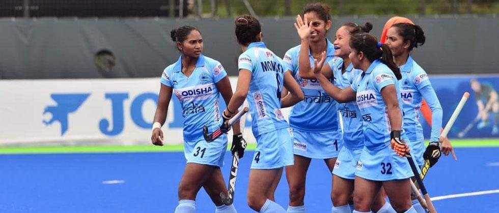 India celebrate a goal