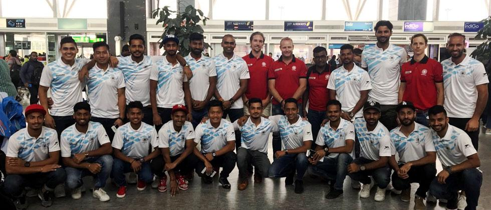 The Indian Men's Hockey Team left for the Four Nations Invitational Tour in New Zealand
