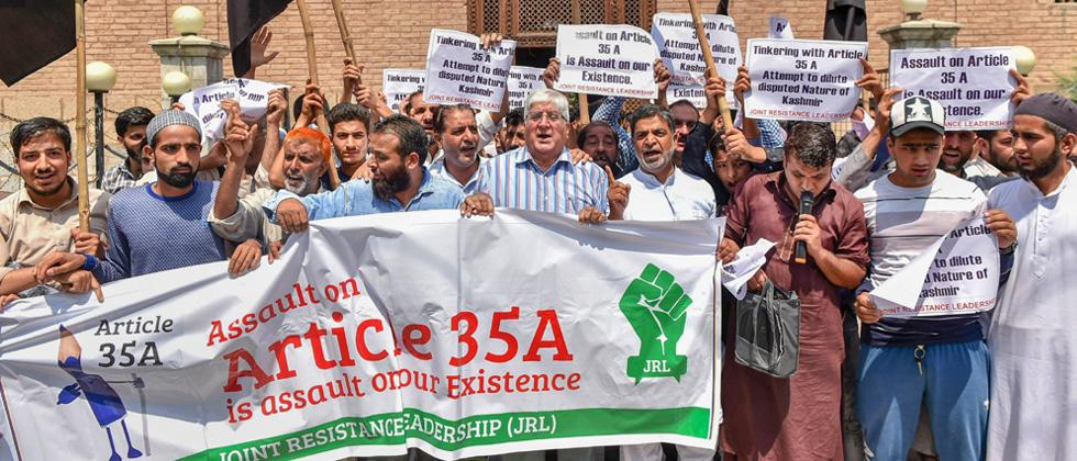 Article 35-A: Complete shutdown in Kashmir